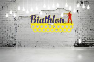 """Медальница биатлон """"Biathlon"""" кольца MAL-05"""
