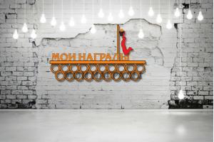 "Медальница баскетбол ""Мои награды""кольца  MBSL-05"