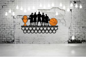 "Медальница баскетбол ""Команда""кольца  MBSL-06"